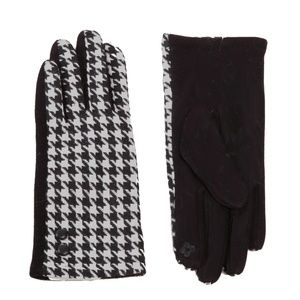 NWT  BOUTIQUE     HOUNDSTOOTH GLOVES    SMART TIPS